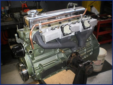 Healey 3000 motor we rebuilt for resto project.
